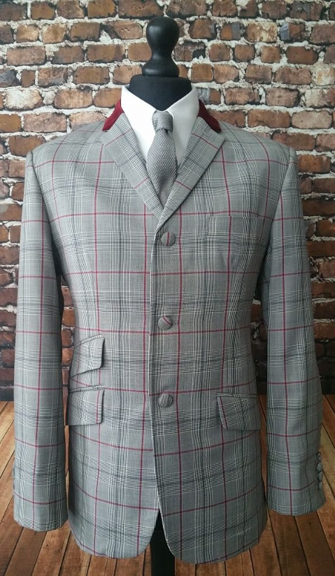 """Guy"" Large Red Check Prince of Wales Suit"